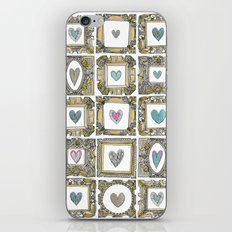 love heart frames iPhone & iPod Skin