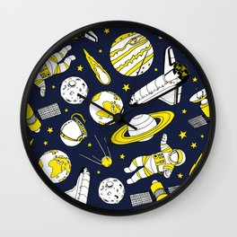 Space is for the brave Wall Clock
