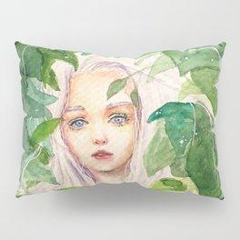 Fairy in Green Lush Garden Pillow Sham