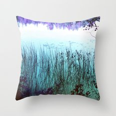 Reflective Tranquility Throw Pillow