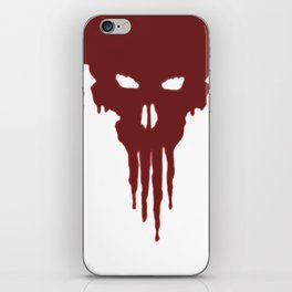 Dissolved Blood Skull iPhone Skin