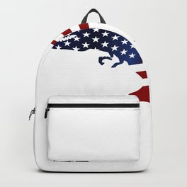 Independence Day - American Flag T-Rex Dinosaur Backpack