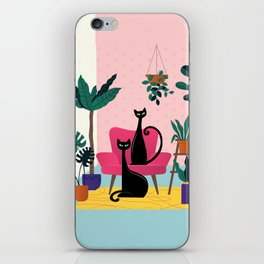 Sleek Black Cats Rule In This Urban Jungle iPhone Skin