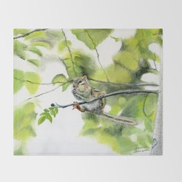 Balancing Act by Teresa Thompson Throw Blanket