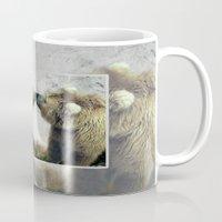 bears Mugs featuring Bears by Julie Hoddinott