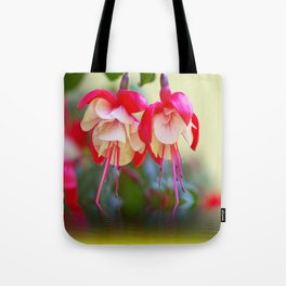 Fuchsias on the water Tote Bag