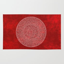 THE RED LABYRINTH Rug