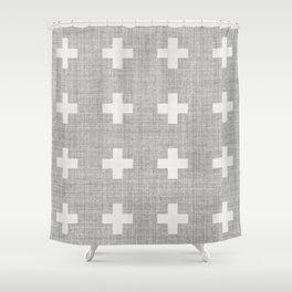 Large Swiss Cross Shower Curtain