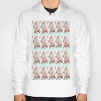 pigs Hoodies featuring Pigs by Dora Birgis