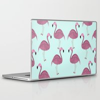 flamingo Laptop & iPad Skins featuring Flamingo by Frida Strömshed