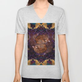 Theadora the Explorer Dreams of Flora Unisex V-Neck