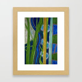 Pattern out of Grass and Stems and More Framed Art Print
