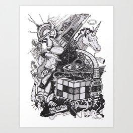 Pyramid of the 80s Art Print