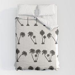 solar palm beach in a dark color Comforters