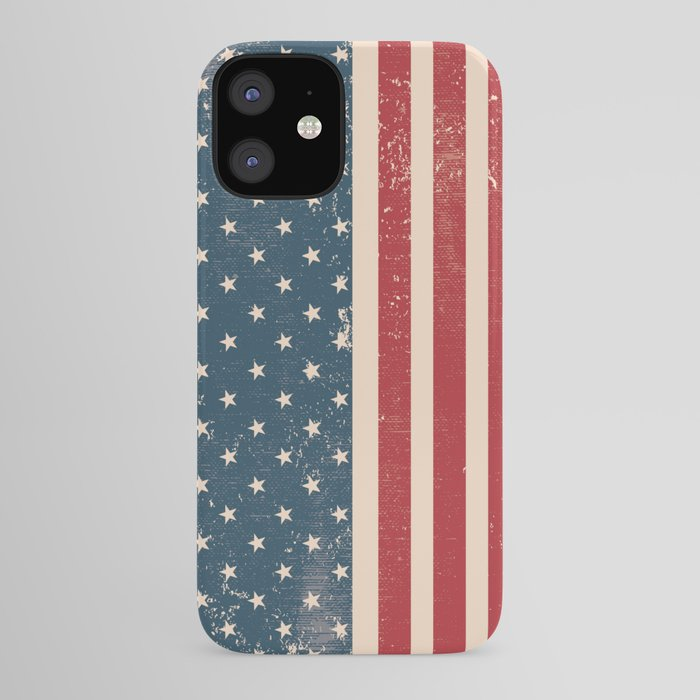 Vintage Distressed American Flag iPhone Case by glc138   Society6