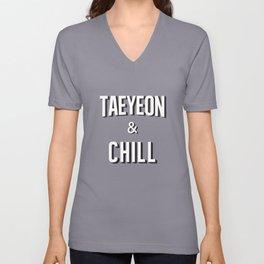 TAEYEON & CHILL Unisex V-Neck