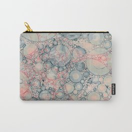 Vintage Bubble Cell Pattern Abstract Carry-All Pouch