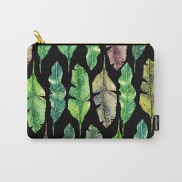 leaves in the black Carry-All Pouch