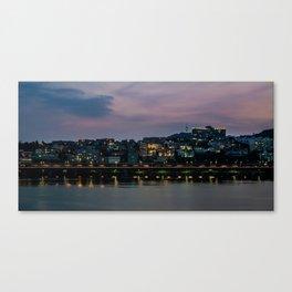 Purple Skies Over Seoul Canvas Print