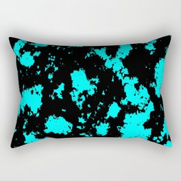 Abtract Art Blue/Black Rectangular Pillow