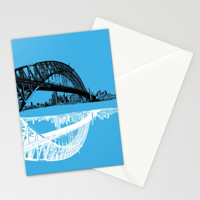 sydney in blue Stationery Cards