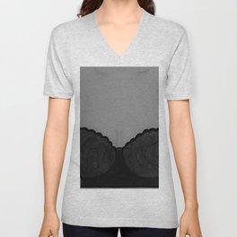 Beautiful Silhouette. Lingerie Model Original Painting by Jodi Tomer. Unisex V-Neck
