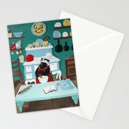 Baking Bread (Mr Badger Series) Stationery Cards