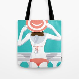 San Tropez Girl Tote Bag