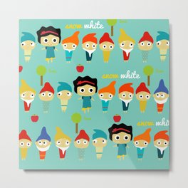 Snow White and the 7 dwarfs Metal Print