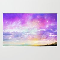 magical girl Area & Throw Rugs featuring Magical Sunset  by EllipsisArts