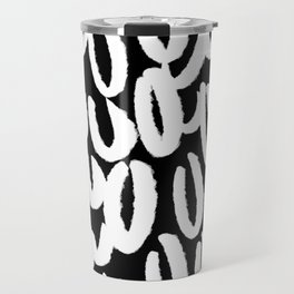 Brushy white and black - classy college student collection Travel Mug
