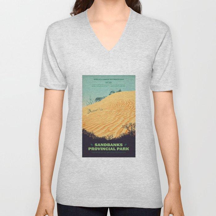 Sandbanks Provincial Park Poster Unisex V-Ausschnitt