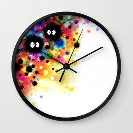 Konpeito-Fetti Watercolor Wall Clock