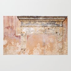 Ancient Marble Doorframe and Plaster, Crete, Greece Rug