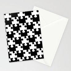 Checkerboard Puzzle Pieces Stationery Cards