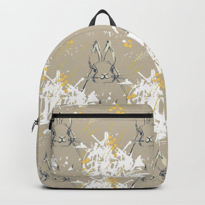 Bunny Portrait M+M Latte by Friztin Backpack