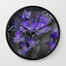 Bluebells in Celtic knot frame Wall Clock