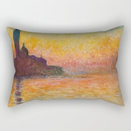 Claude Monet – Saint georges majeur au crépuscule San Giorgio Maggiore by Twilight Rectangular Pillow