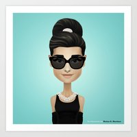 audrey Art Prints featuring Audrey by Matias G. Martinez