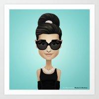 audrey Art Prints featuring Audrey by Matias G. Martinez
