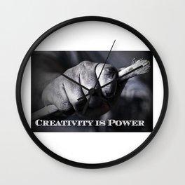 Creativity Is Power Wall Clock