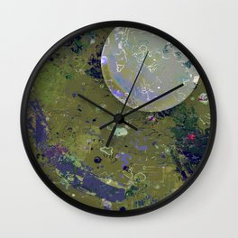Dust 04 - Post Biological Universe Wall Clock