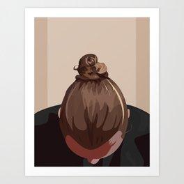 Man I Like Your Bun Art Print