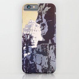 Watercolor of Khmer/Buddhist temple of the Bayon at Angkor Wat ruins- Siem Reap, Cambodia iPhone Case
