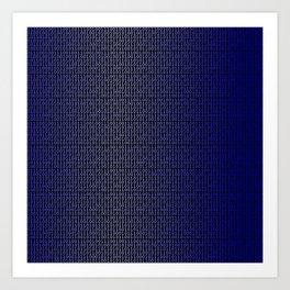 Binary Blue Art Print