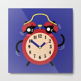 Dancing Red Alarm, Time Is Running Out Blue BG Metal Print