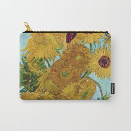 "Vincent van Gogh,"" Vase with Twelve Sunflowers "" Carry-All Pouch"