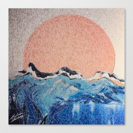 Sun of a Harvey - Storm Struggle Inspo - Acyrlic Painting Canvas Print