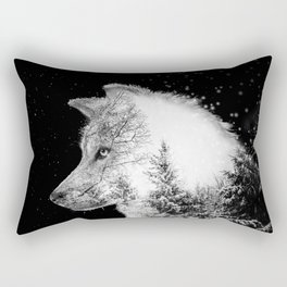 Winter Wolf Rectangular Pillow