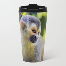 Squirrel monkey in a branch in Costa Rica Travel Mug